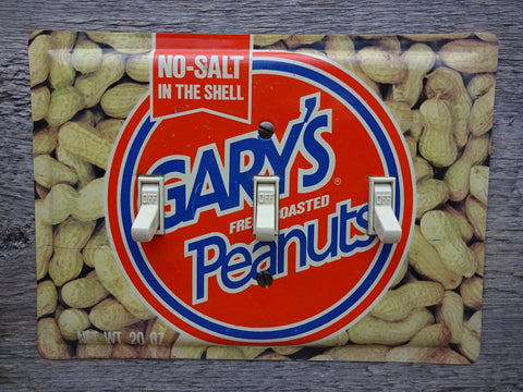 Switch Plates Made From Vintage Garys Peanuts Tins For Gary