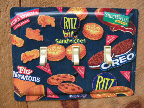 Switch Plate Made From A Nabisco Cookies Crackers Tin