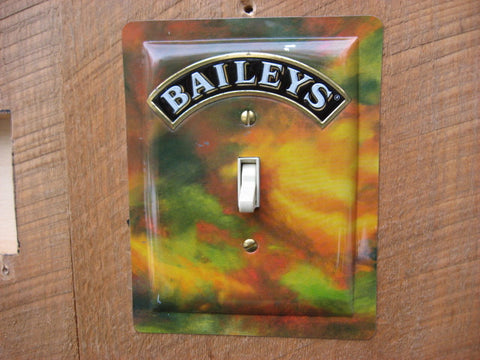 Switch Plate Made From A Baileys Irish Cream Tin