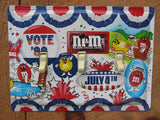 Patriotic Switch Plates Made From M&M's Candy Tins