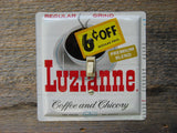 Switch Plate Made From A Vintage Luzianne Coffee Tin