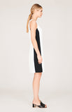 Stretch Base Color Blocked Sheath Dress