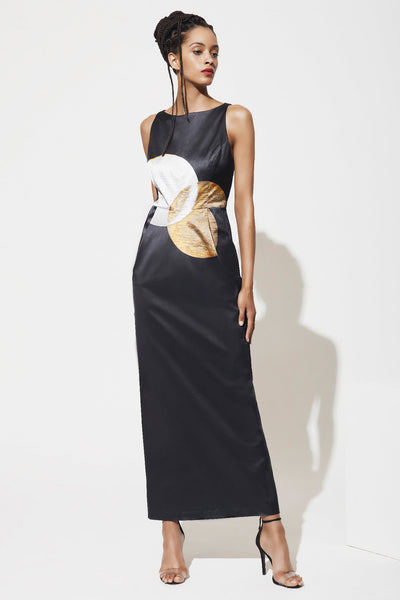 Long Boat Neck Gown