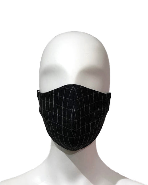 Checkered Face Mask - Black
