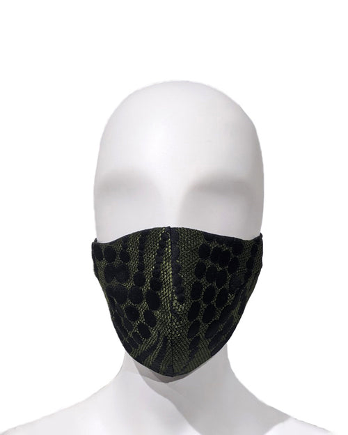 Dotted Wave Jacquard Face Mask