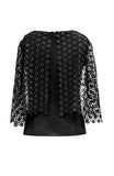 VENISE LACE OVERLAY BLOUSE