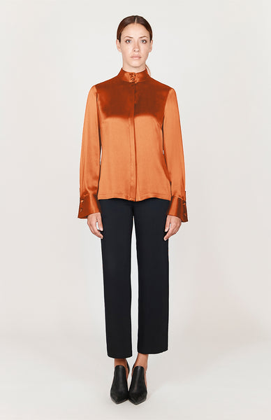 Satin Mandarin Collar Shirt - Capsule 1