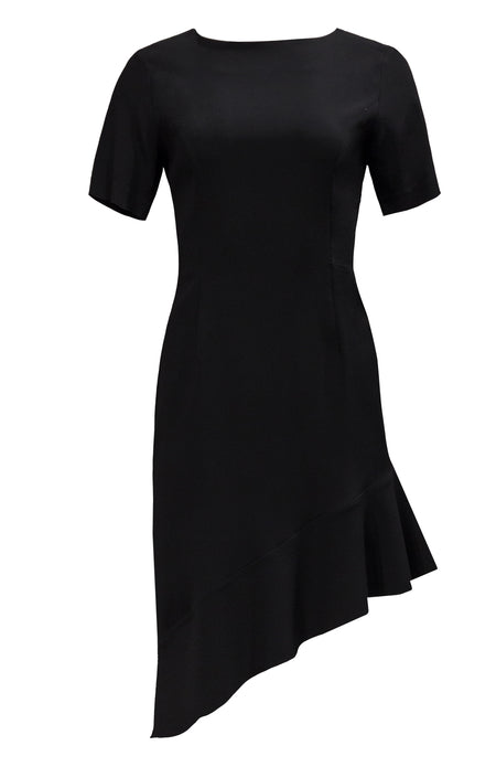 V NECK FITTED DRESS