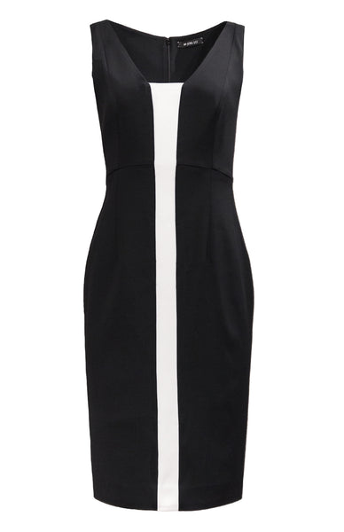SLEEVELESS DRESS WITH PANEL