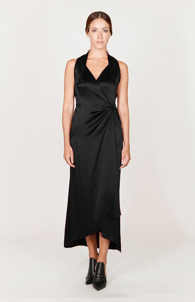 Satin Faux Wrap Hollywood Dress - Capsule 3