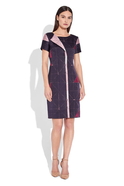 Sheath dress with fold detail