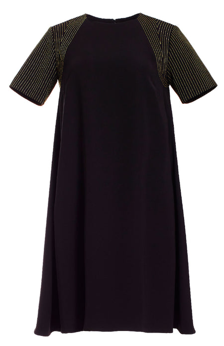 SWING DRESS W/ BACK OVERLAP