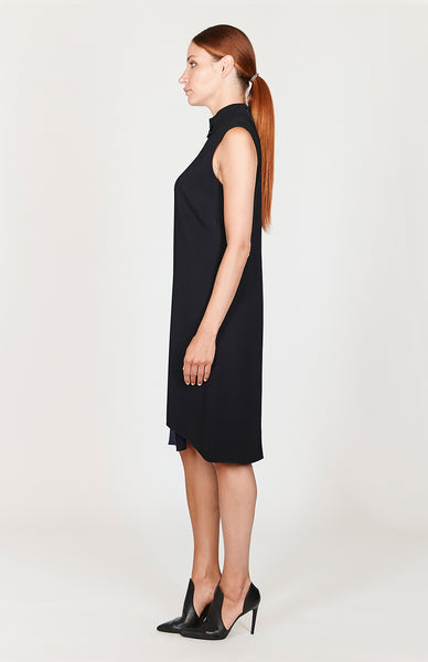 Stretch Base Asymmetric Shift Dress