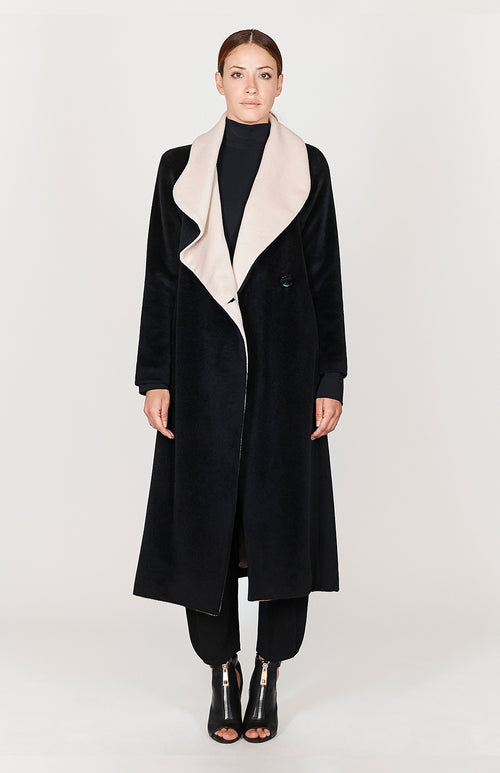Long Draped Collar Coat - Capsule 2