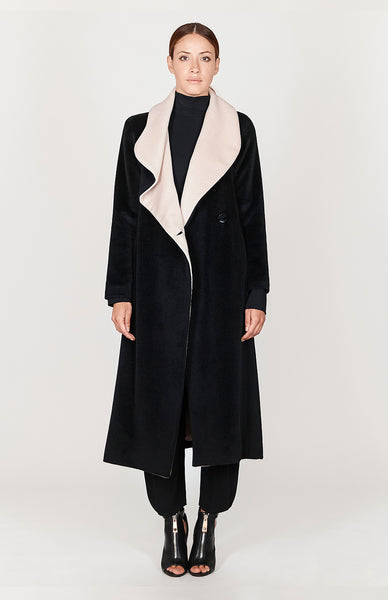 Long Draped Collar Coat