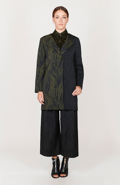 Dotted Wave Color Blocked Wrap Duster - Capsule 1