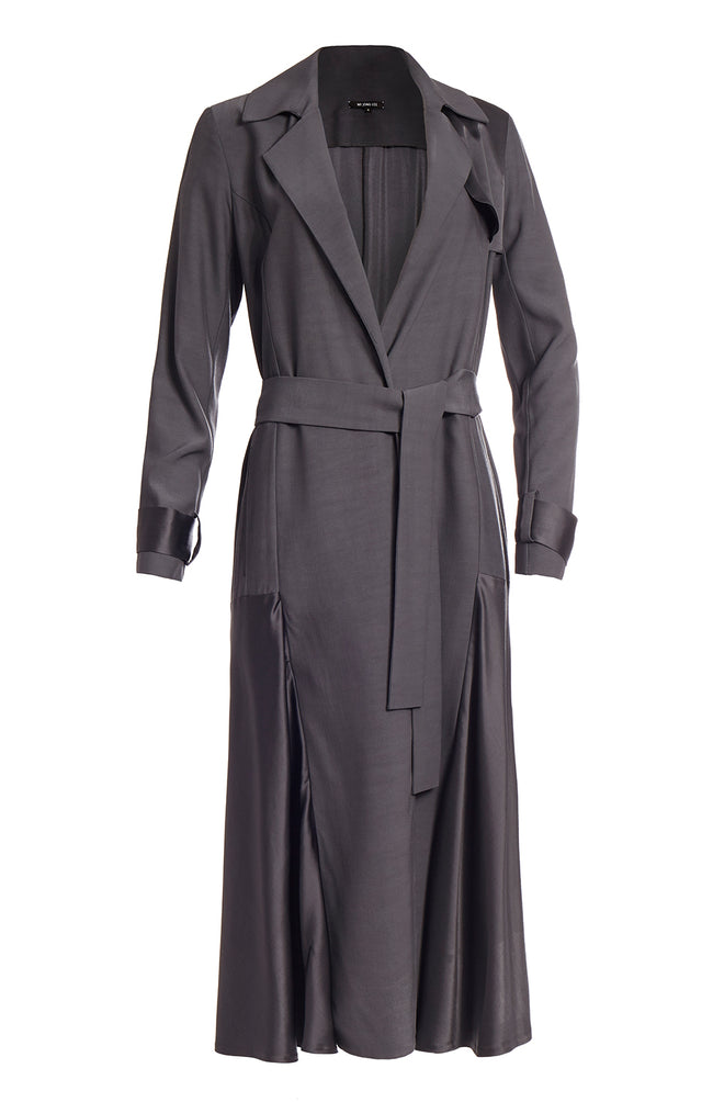 LONG SWING TRENCH COAT