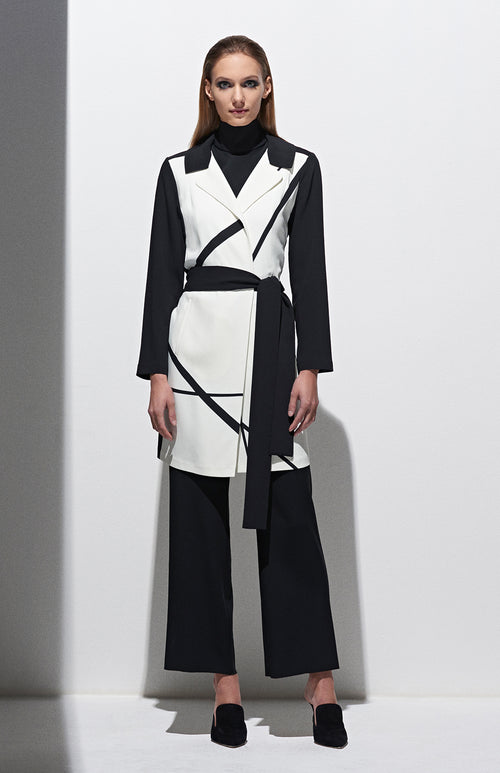 DUSTER W/ CONTRAST & BELT