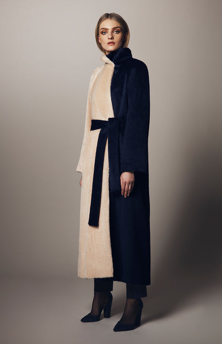 LONG SLEEVE COLLARLESS DUSTER