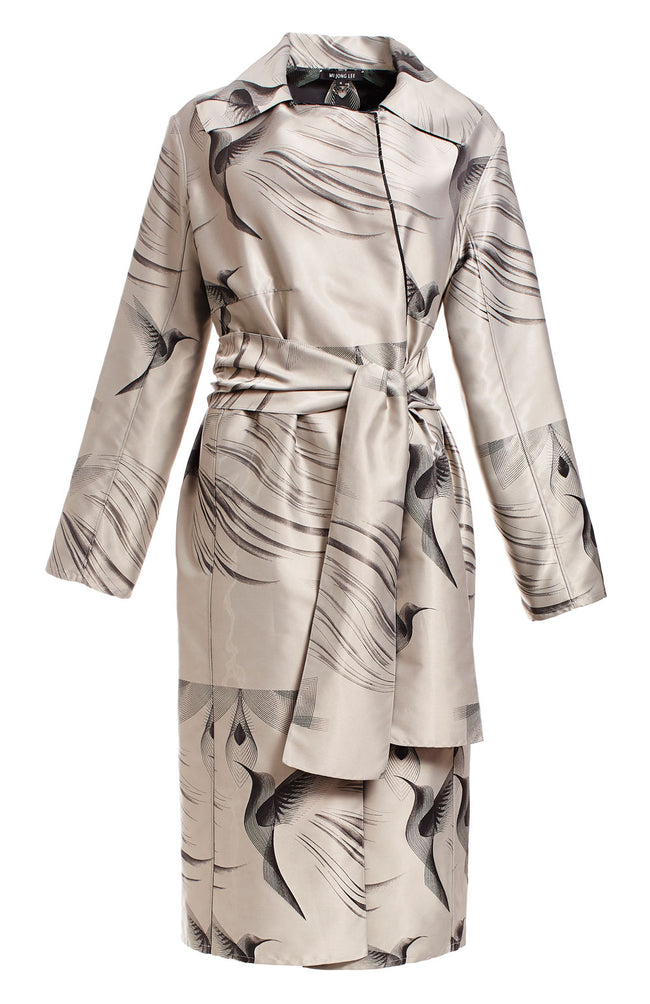 REVERSIBLE TRENCH COAT W/ SELF BELT