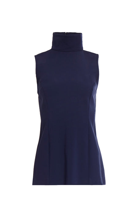 PLUNGE NECKLINE PLEATED DRESS