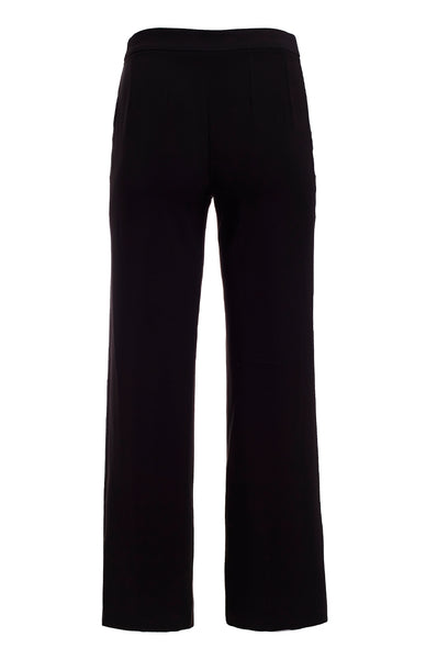 CROPPED FLAT FRONT WIDE LEG PANT