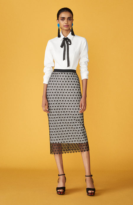 Pencil skirt with panels