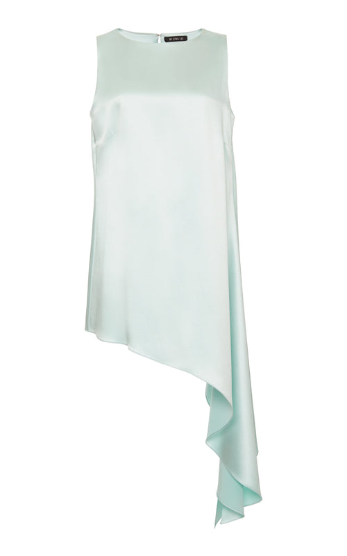 Asymmetrical sleeveless tunic