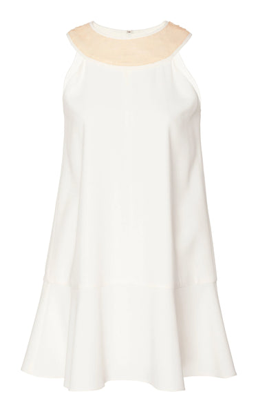 SLEEVELESS TUNIC WITH CONTRAST COLLAR BAND