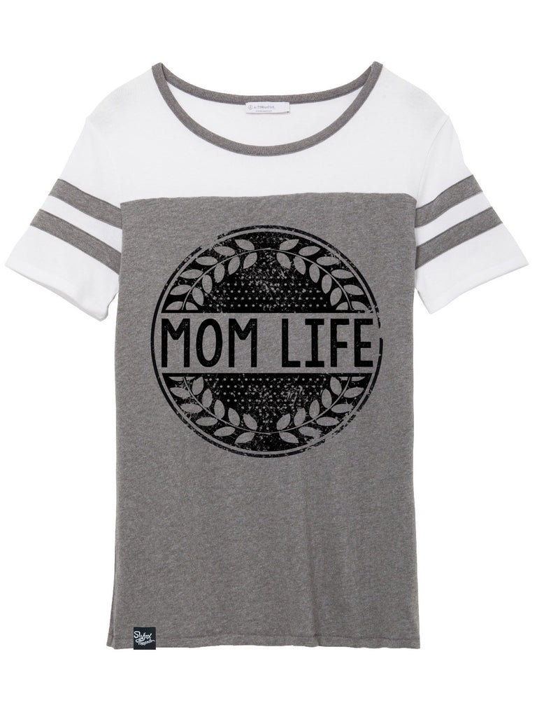 Mom Life Dark Grey Jersey Tee - Hurry! Closeout!