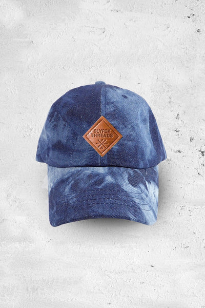Washed Dark Denim Baseball Hat