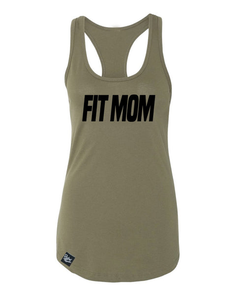 Fit Mom Green Racerback Tank