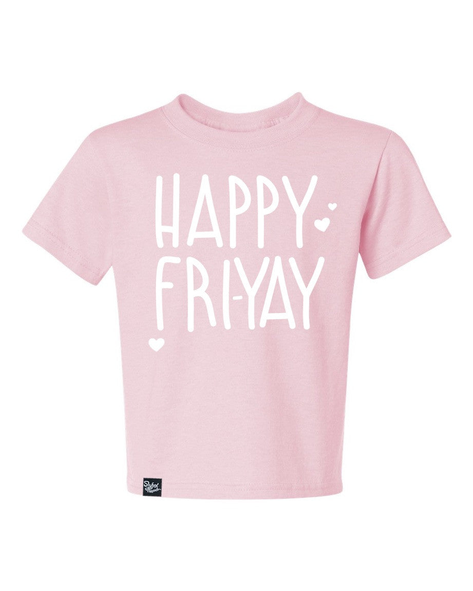 Happy Fri-Yay Pink Youth Tee