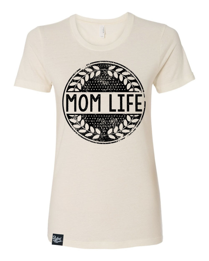 Mom Life Ivory Tee - Hurry! Closeout!