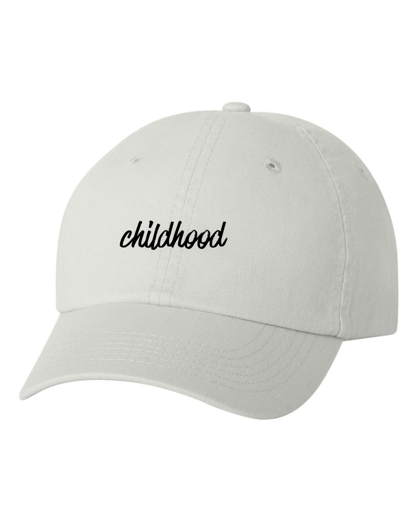 Childhood Baseball White Hat