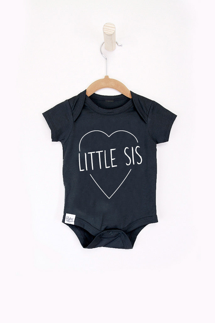 Little Sis Black Onesie