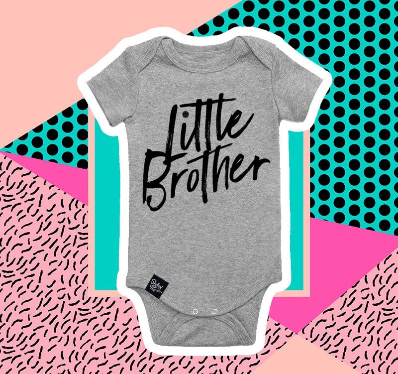 Little Brother Grey Onesie