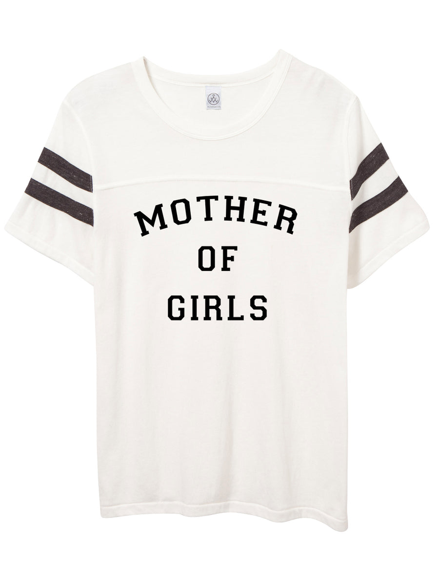 Mother of Girls Football Tee