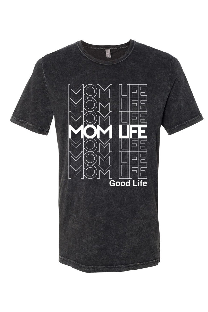 Mom Life Good Life Black Tee