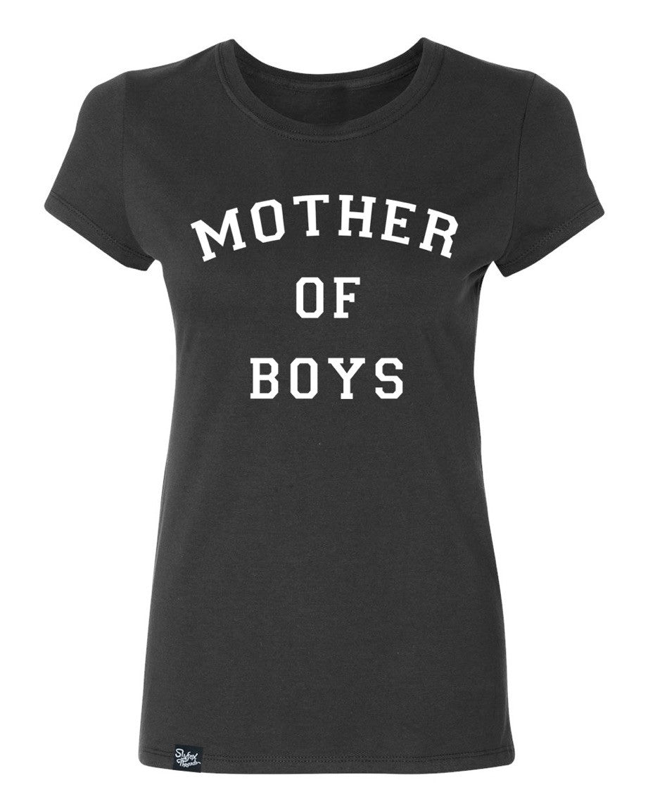 Mother of Boys Black Tee