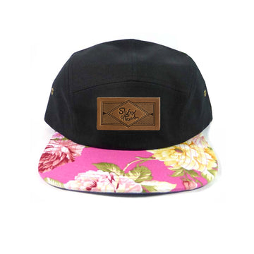 Kids Pink Floral Camp Hat