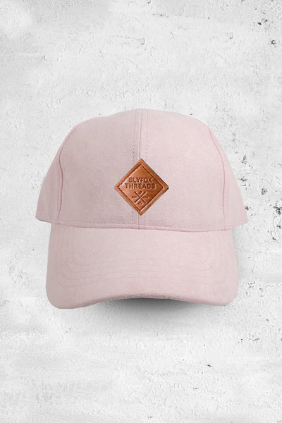 Light Pink Suede Dad Hat