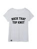 Rock That Top Knot Adult Tee