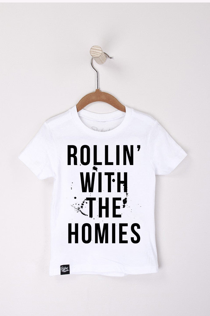 Rollin' with the Homies White Tee