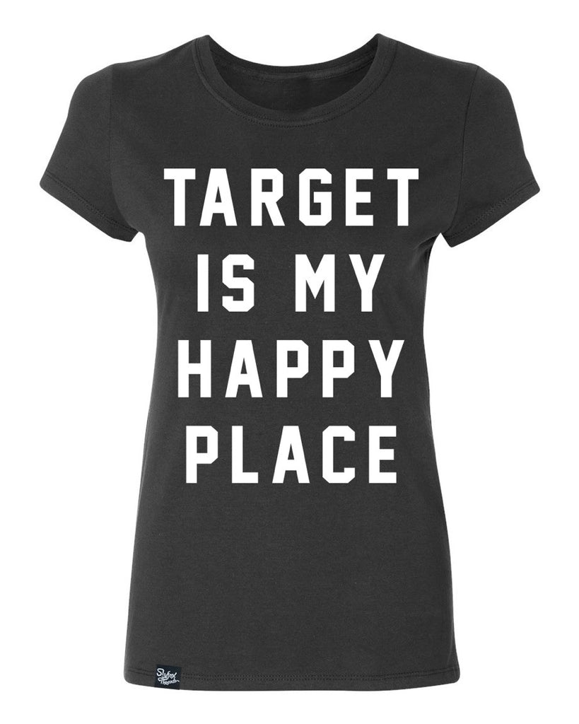 Target is my Happy Place Black Tee - HURRY CLOSEOUT!