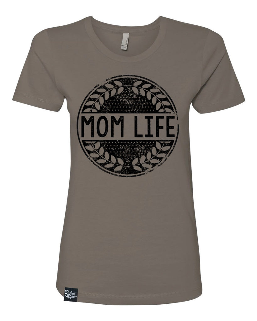 Mom Life Warm Grey Tee - Hurry! Closeout!