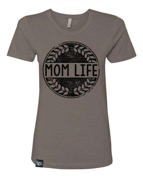 Mom Life Warm Gray Tee