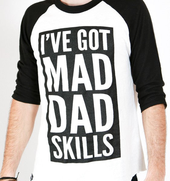 Mad Dad Skills Baseball Tee