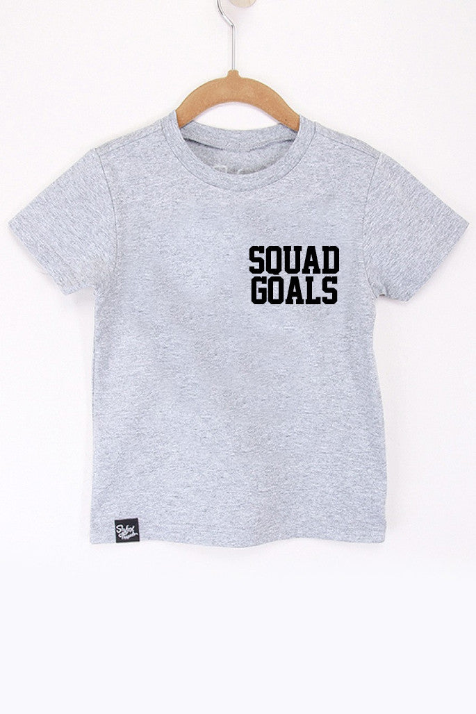 Squad Goals Grey Tee