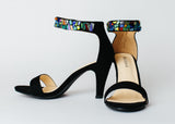 """Lindsey Blair"" Shoes - Glass on ankle strap"